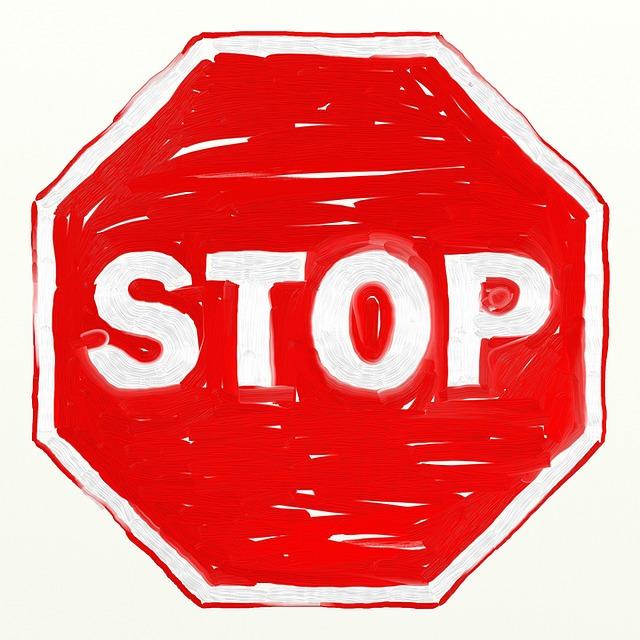 značka stop