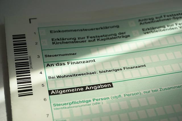 daňové přiznání Německa