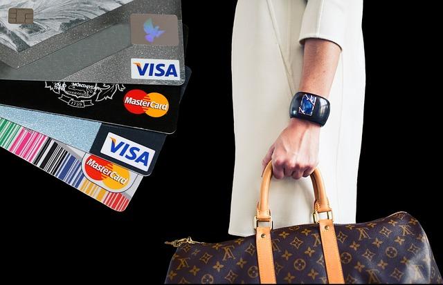nakupování a kreditní karty