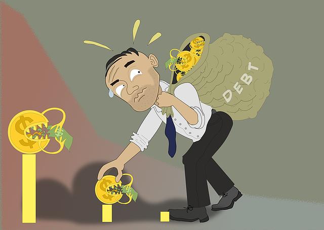 muž s dluhy