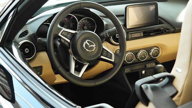 luxusní interiér vozu