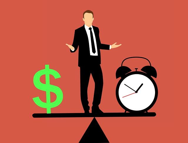 vyvažování čas a peníze